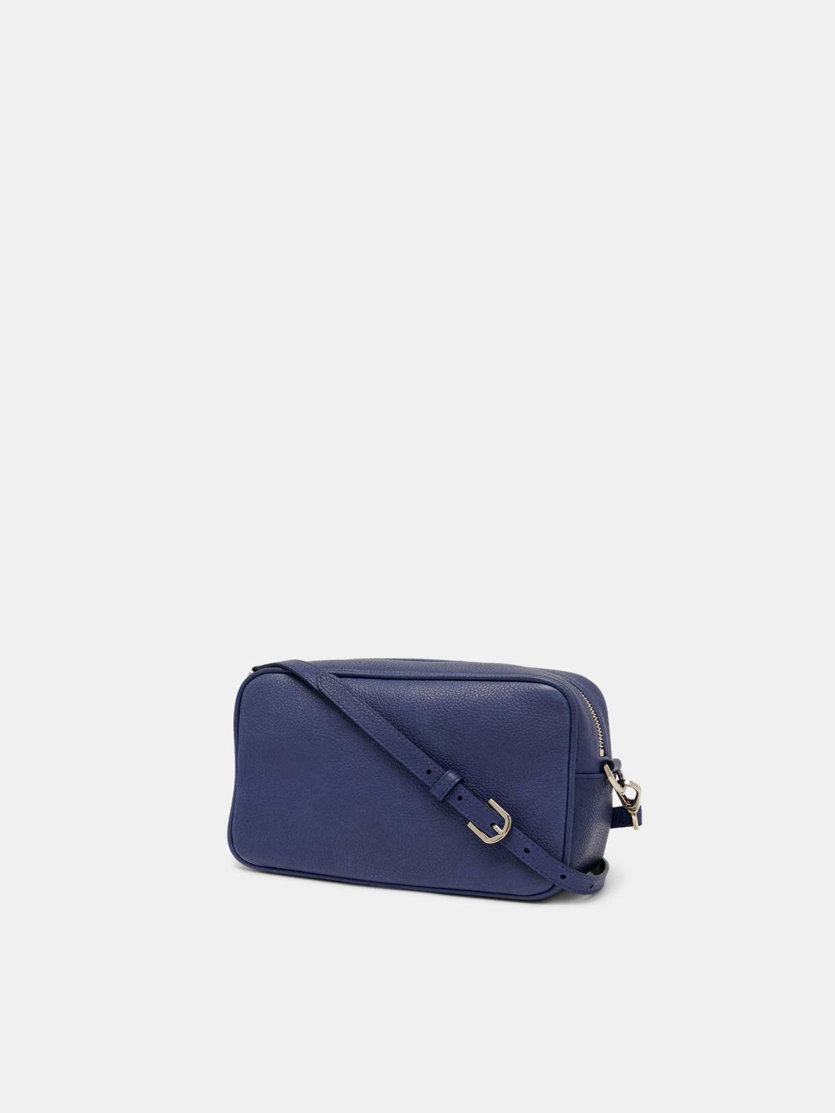Golden Goose - Blue Star Bag with shoulder strap made of pebbled leather in