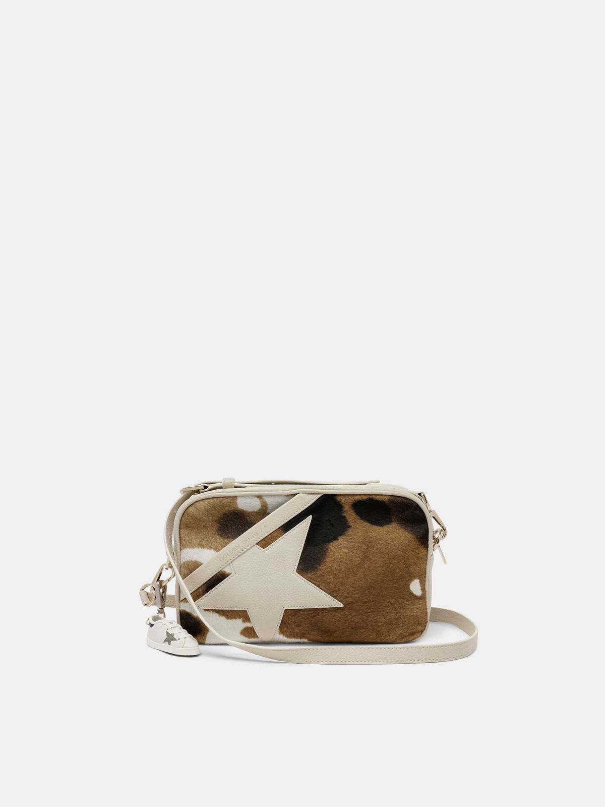 Star Bag made of cow print pony-effect leather