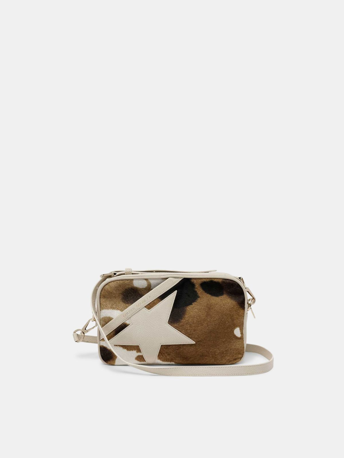 Golden Goose - Star Bag made of cow print pony-effect leather in