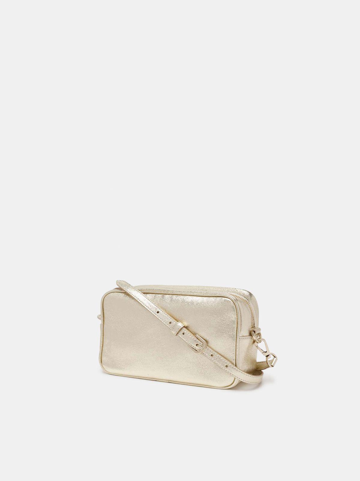 Golden Goose - Borsa Star Bag dorata con cristalli in