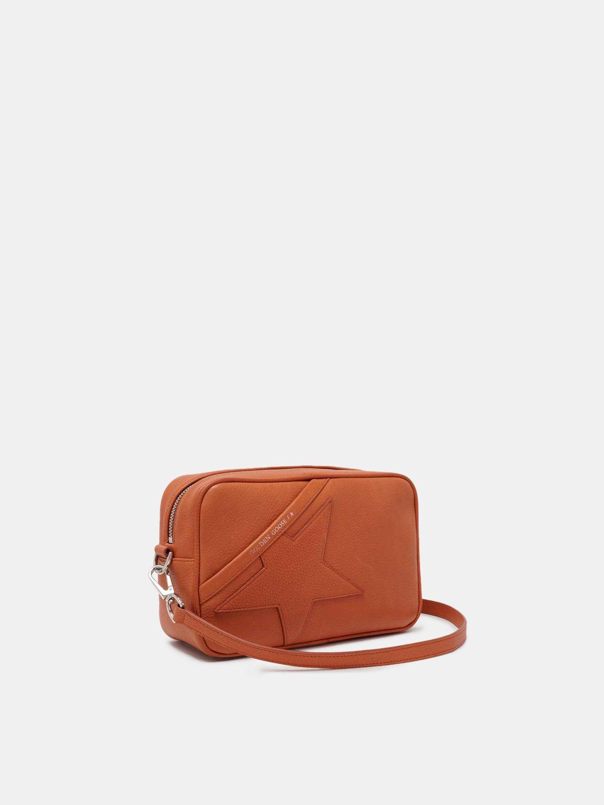 Golden Goose - Borsa Star Bag arancio a tracolla in pelle granata in