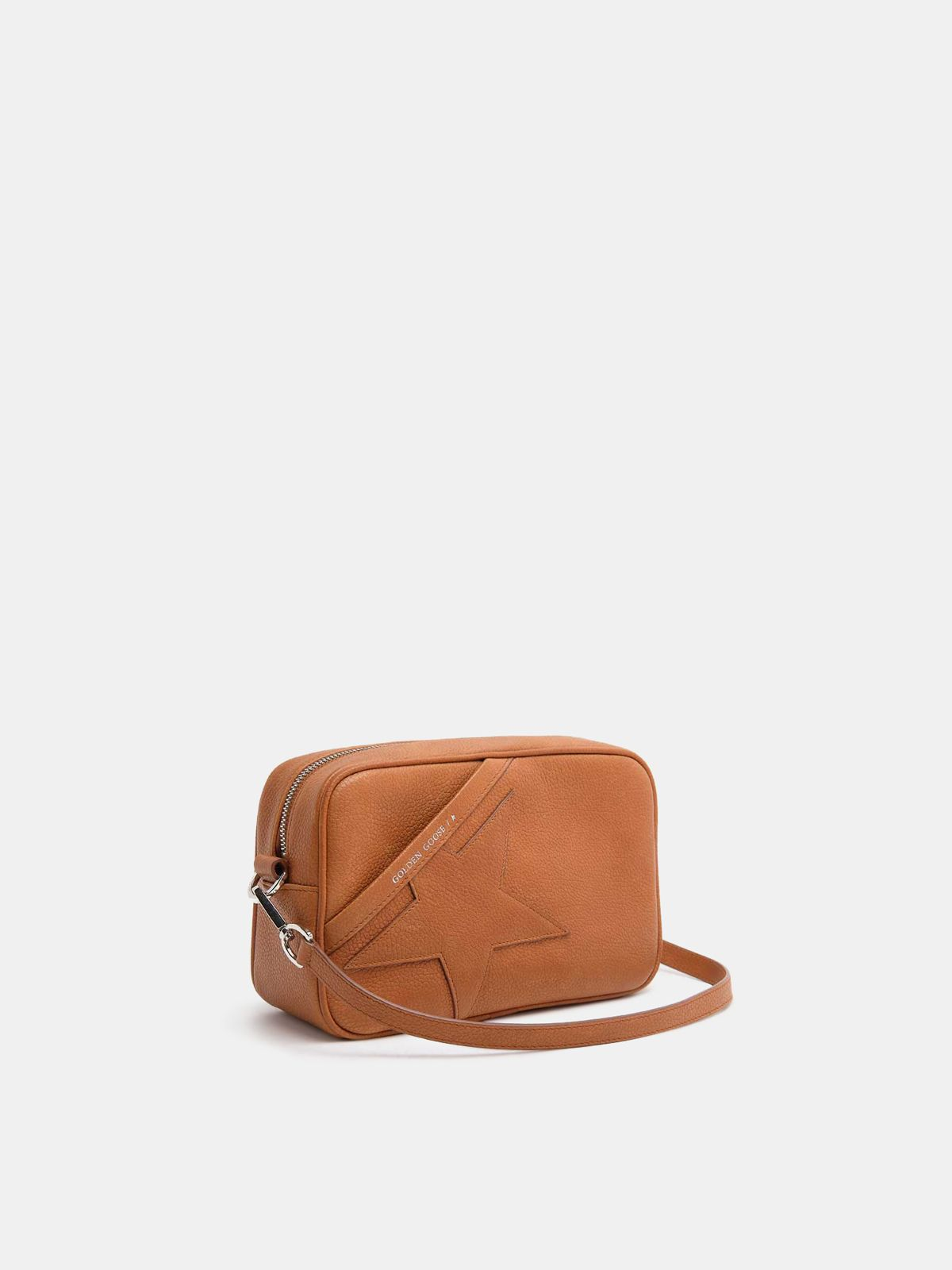 Golden Goose - Tan Star Bag made of hammered leather in
