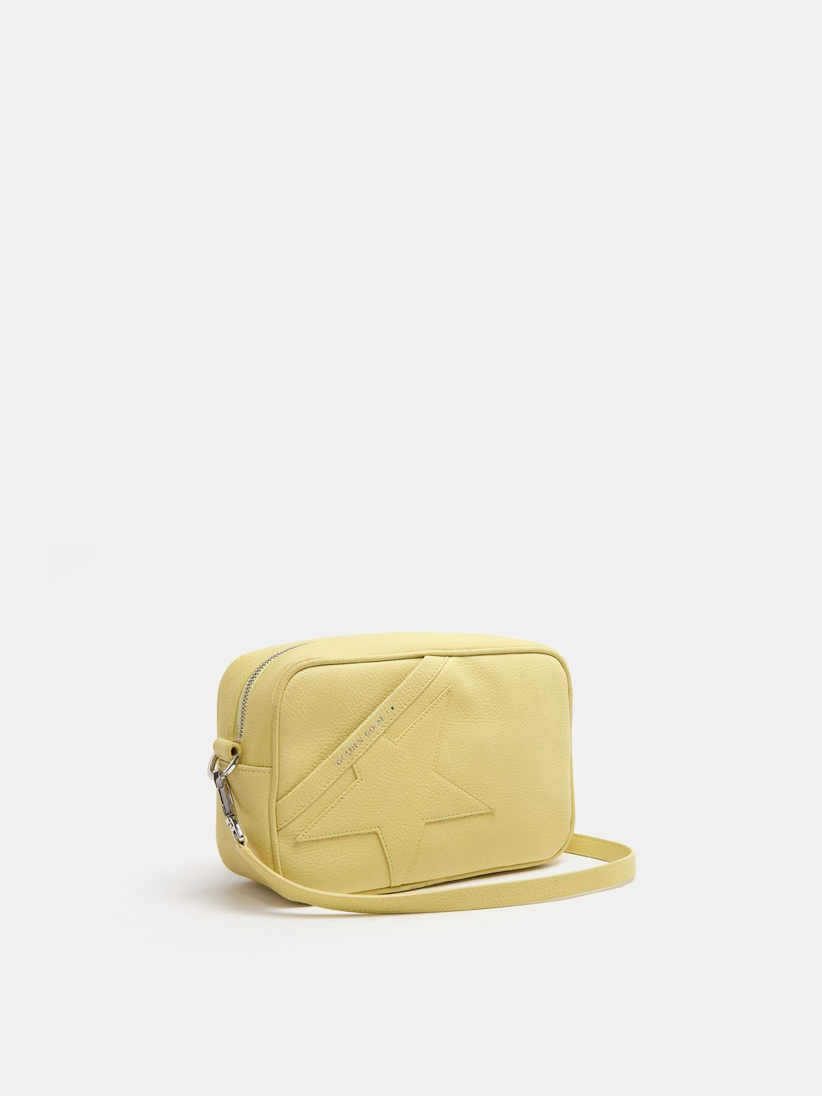 Golden Goose - Borsa Star Bag gialla in pelle martellata in