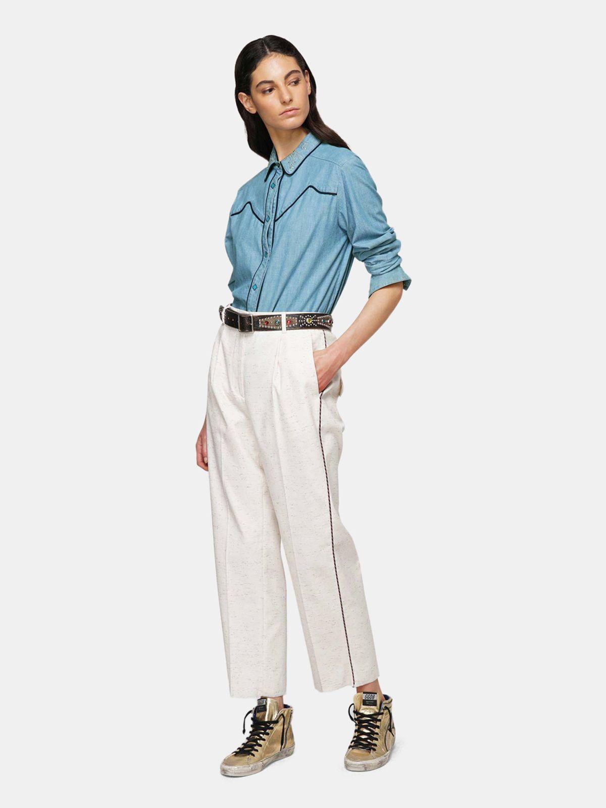 Golden Goose - Camicia Alexa in denim di cotone in