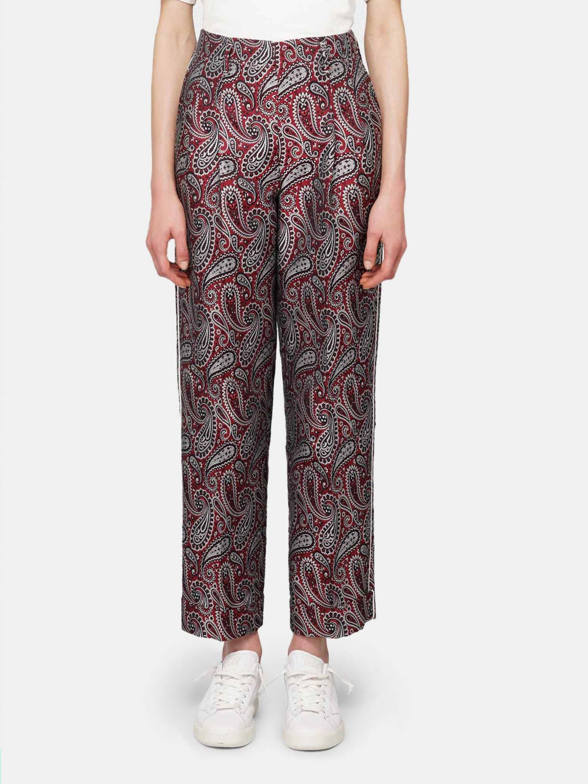Golden Goose - Sally trousers with paisley jacquard motif   in