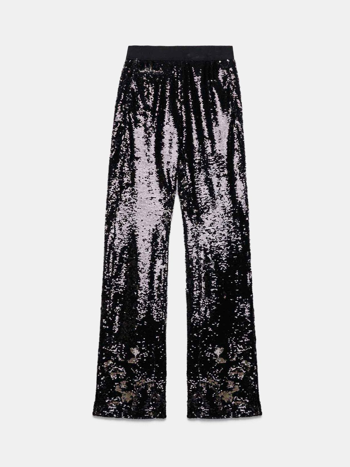 Golden Goose - Pantalon Kelly coupe survêtement avec sequins argentés in