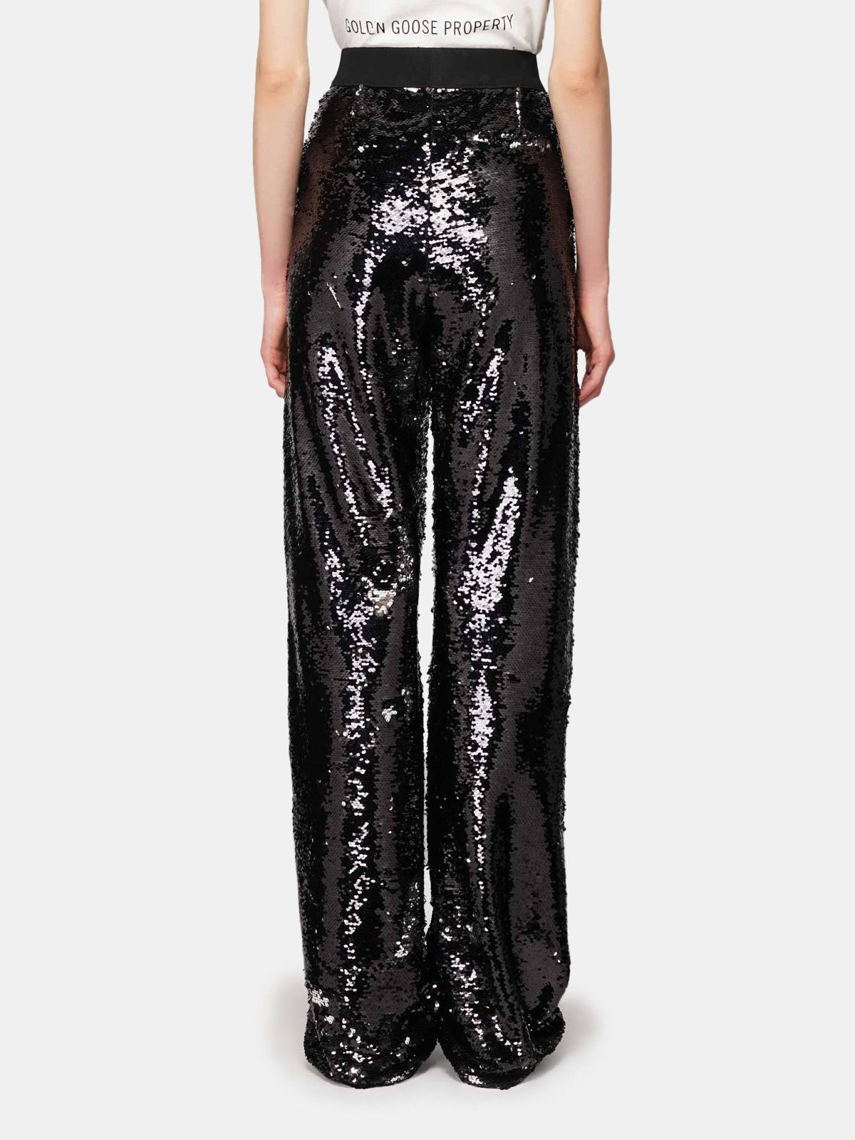 Golden Goose - Kelly tracksuit trousers with silver sequins in