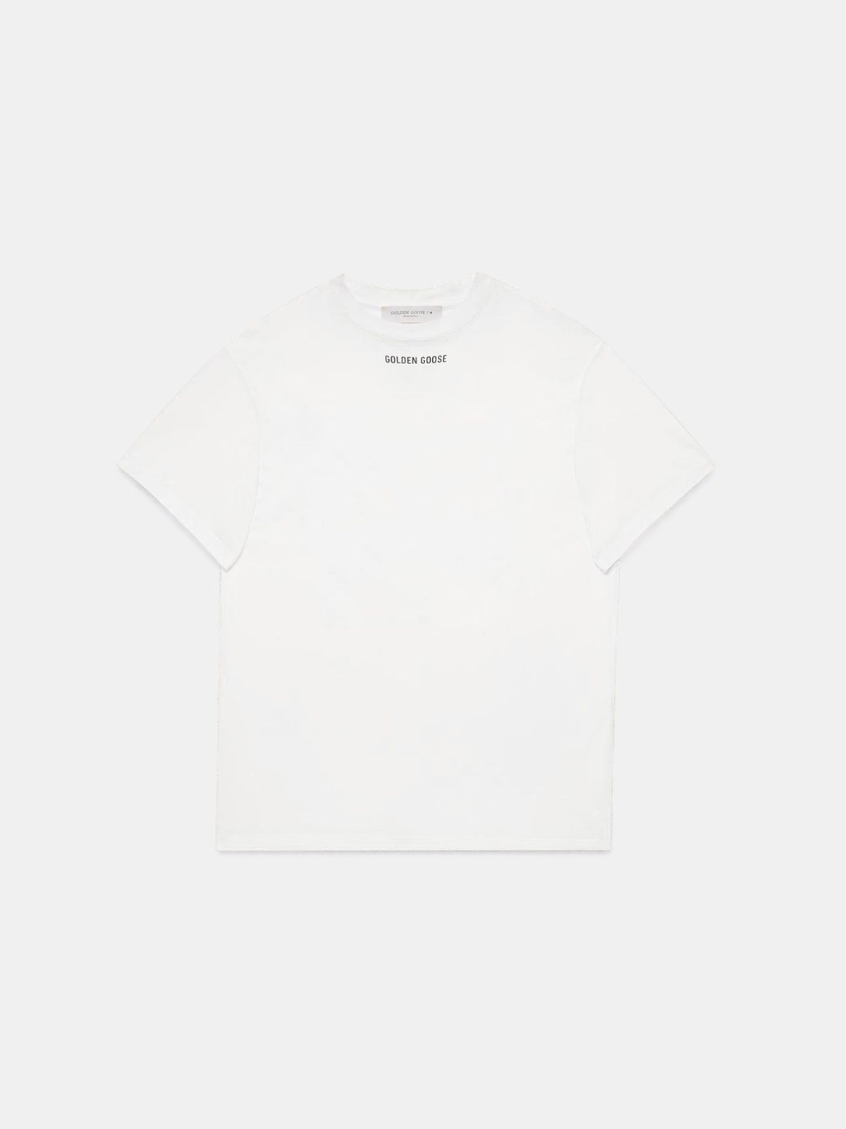 Golden Goose - White Golden T-shirt with print on the back in