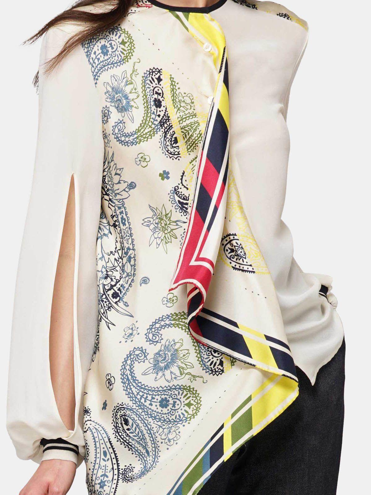 Golden Goose - Camicia Eleanor in seta con stampa bandana multicolor in