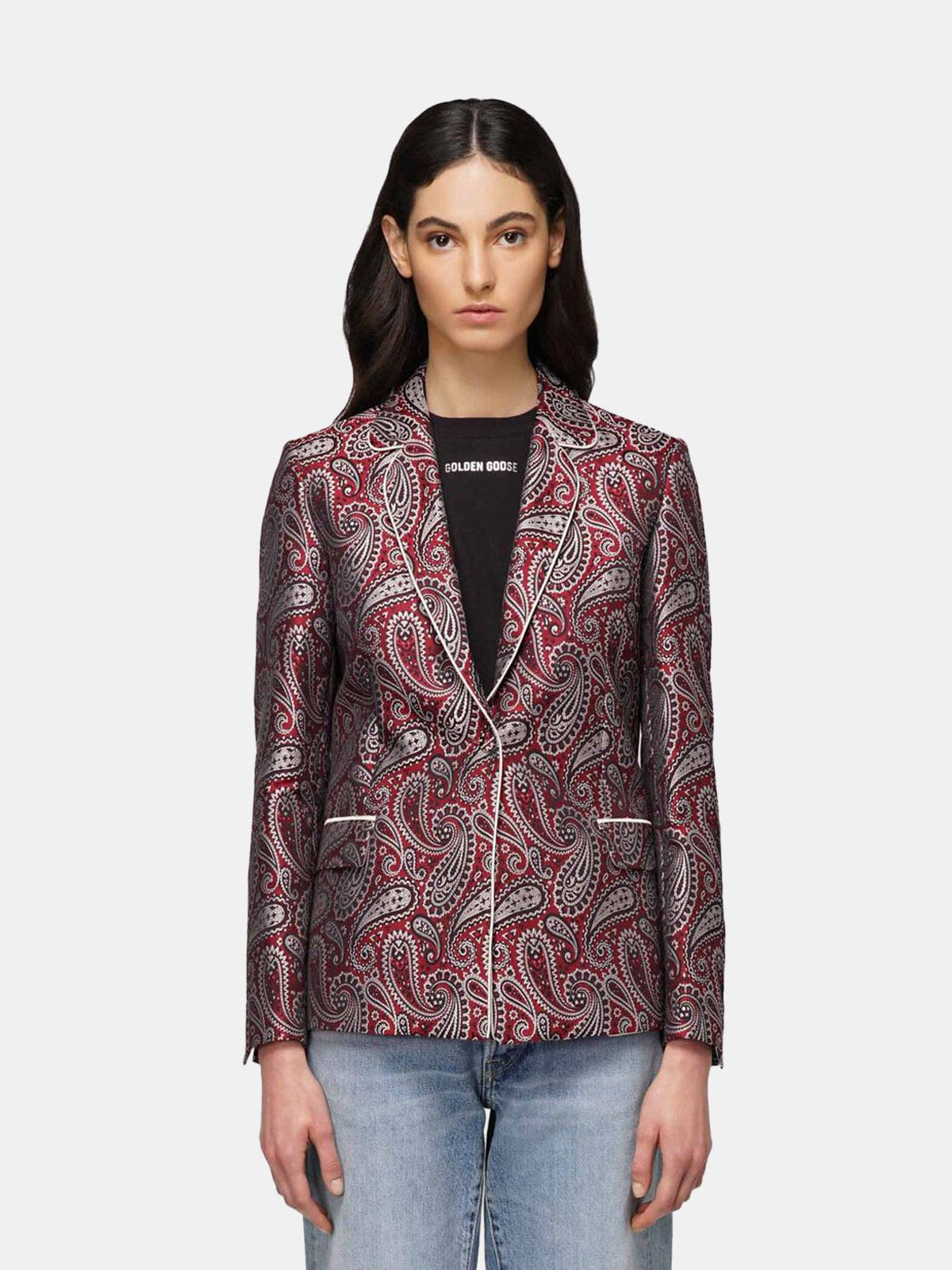 Golden Goose - Venice jacket in jacquard fabric with paisley motif in