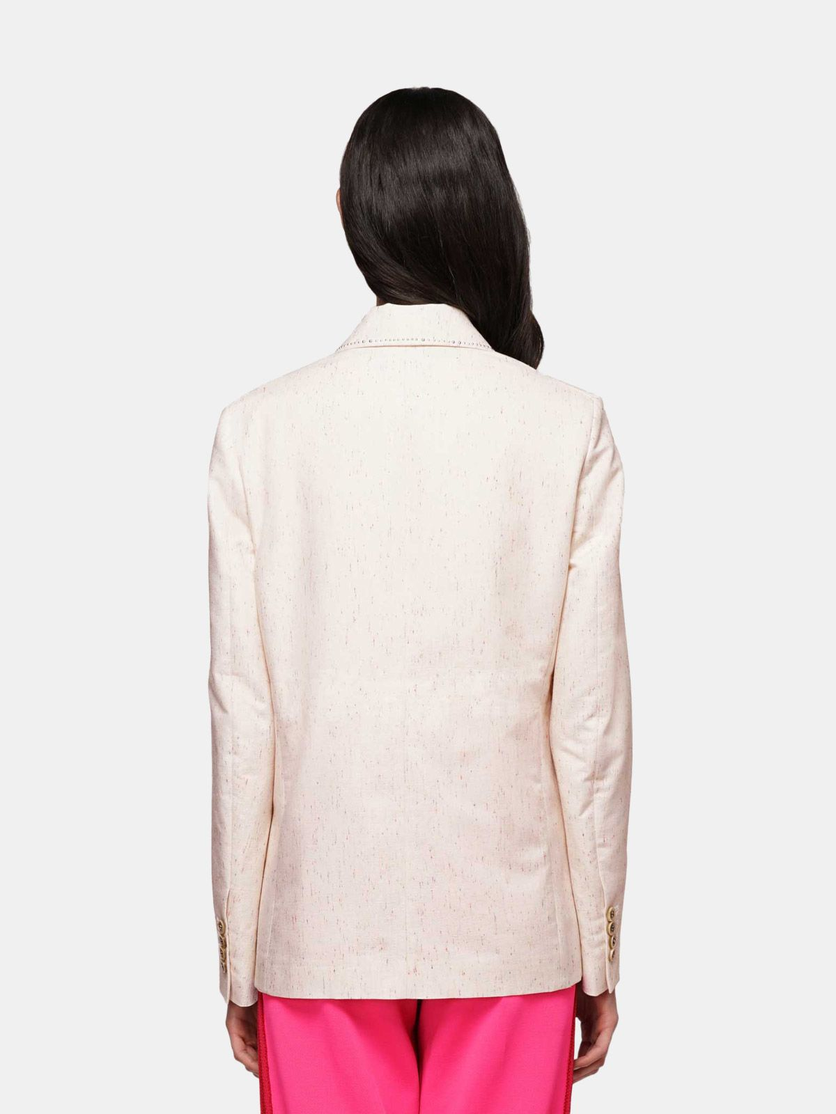 Golden Goose - Golden jacket with multi-colour threads and studs on lapels in