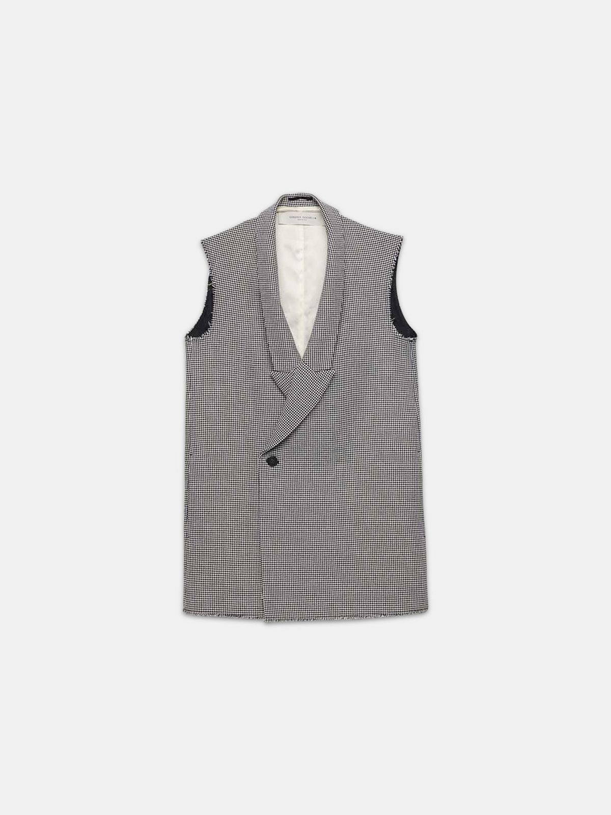 Golden Goose - Double-breasted Jennifer waistcoat with raw edges in