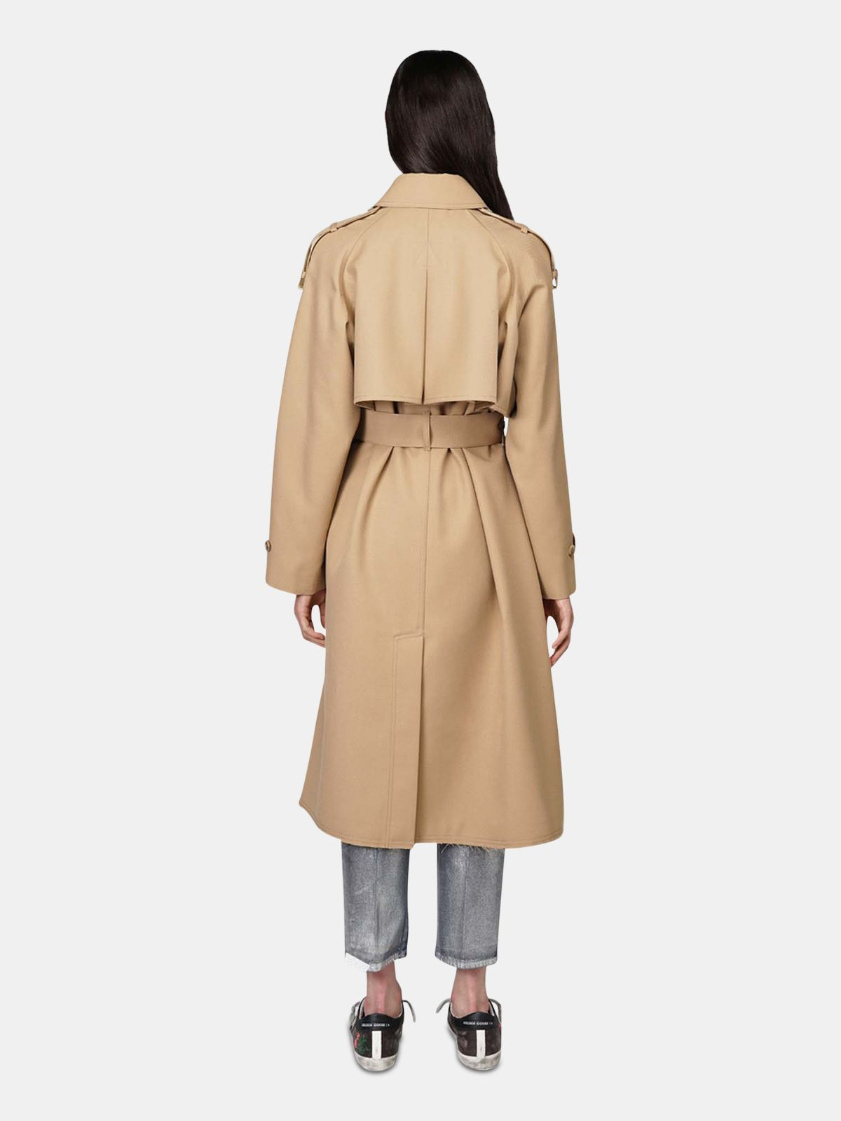 Golden Goose - Serenity trench coat with trekking-style drawstring   in