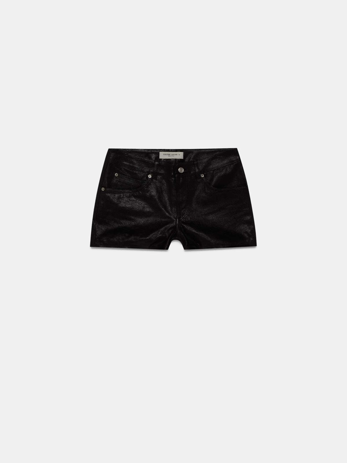 Golden Goose - Zoey shorts in black leather   in