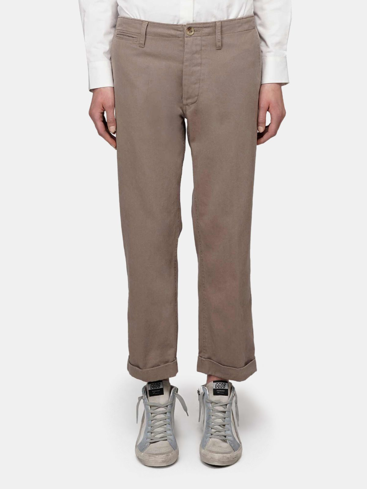 Golden Goose - Megan chino trousers in khaki in