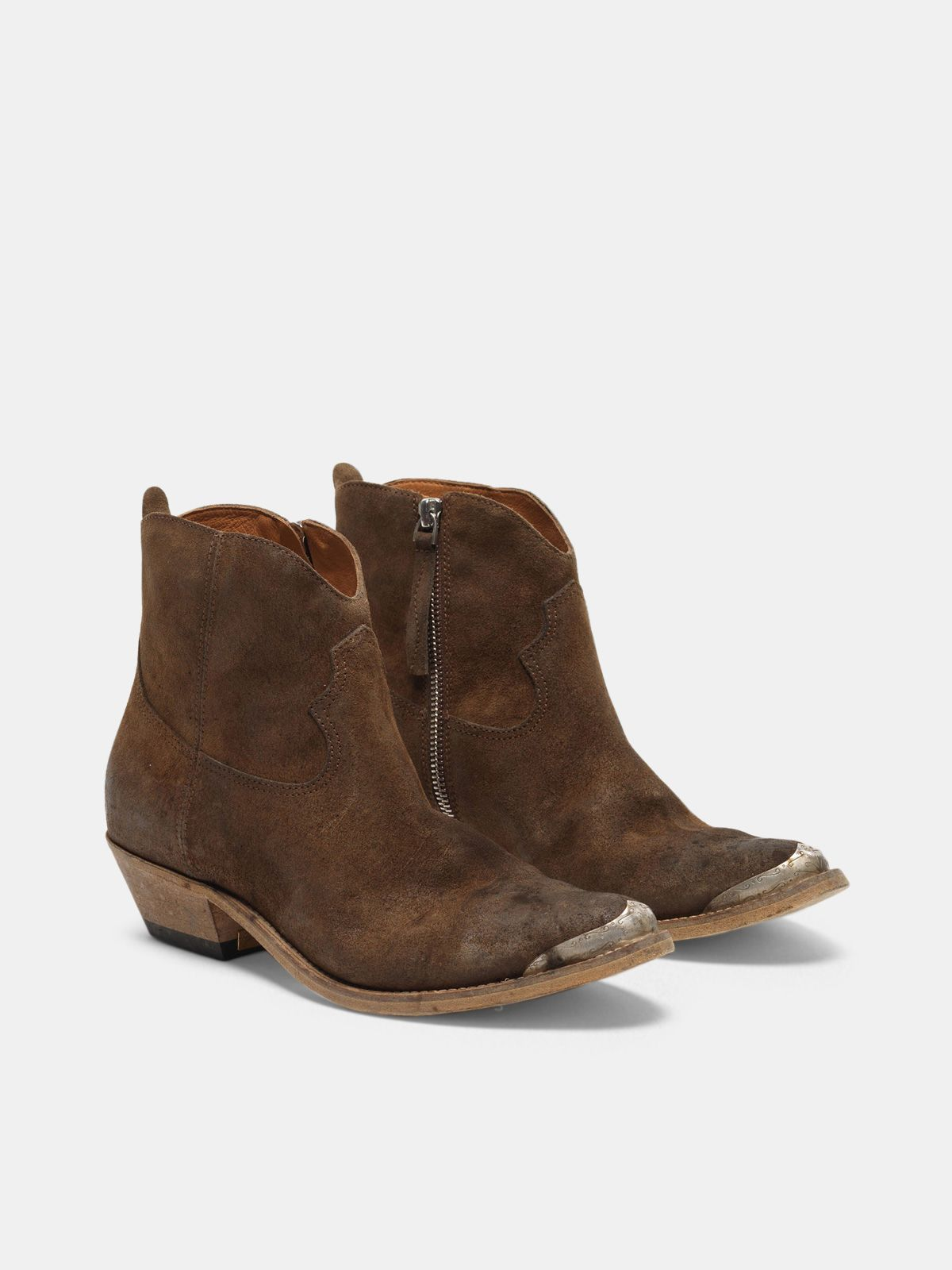 Golden Goose - Young ankle boots in coffee suede in