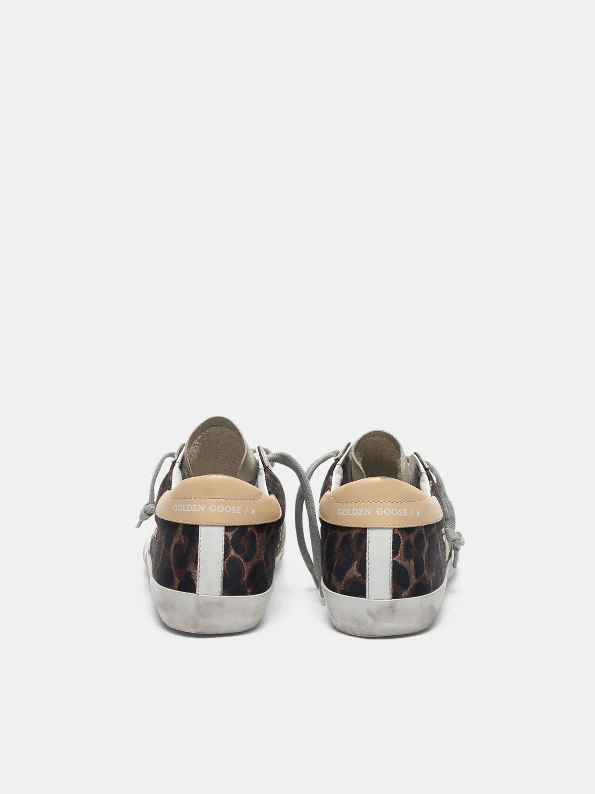 Golden Goose - Leopard-print Super-Star sneakers with suede star in