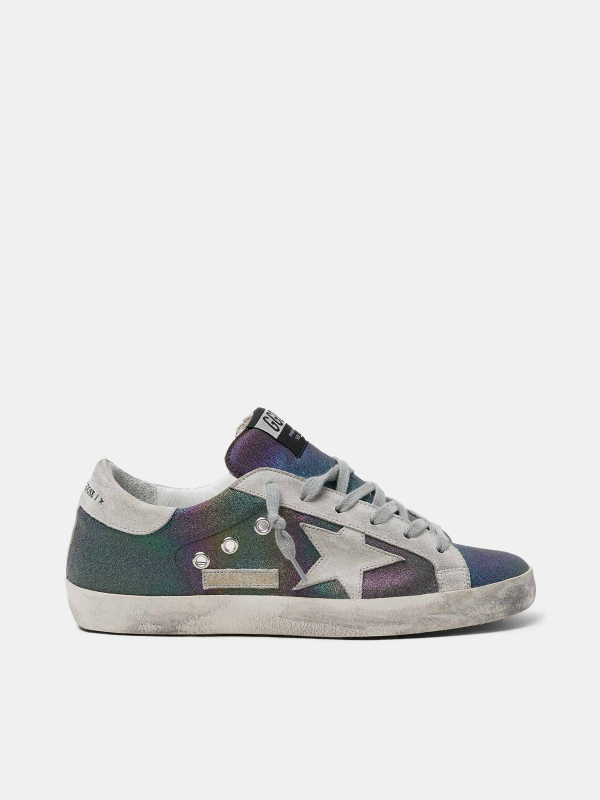 Golden Goose - Super-Star sneakers with rainbow glitter in