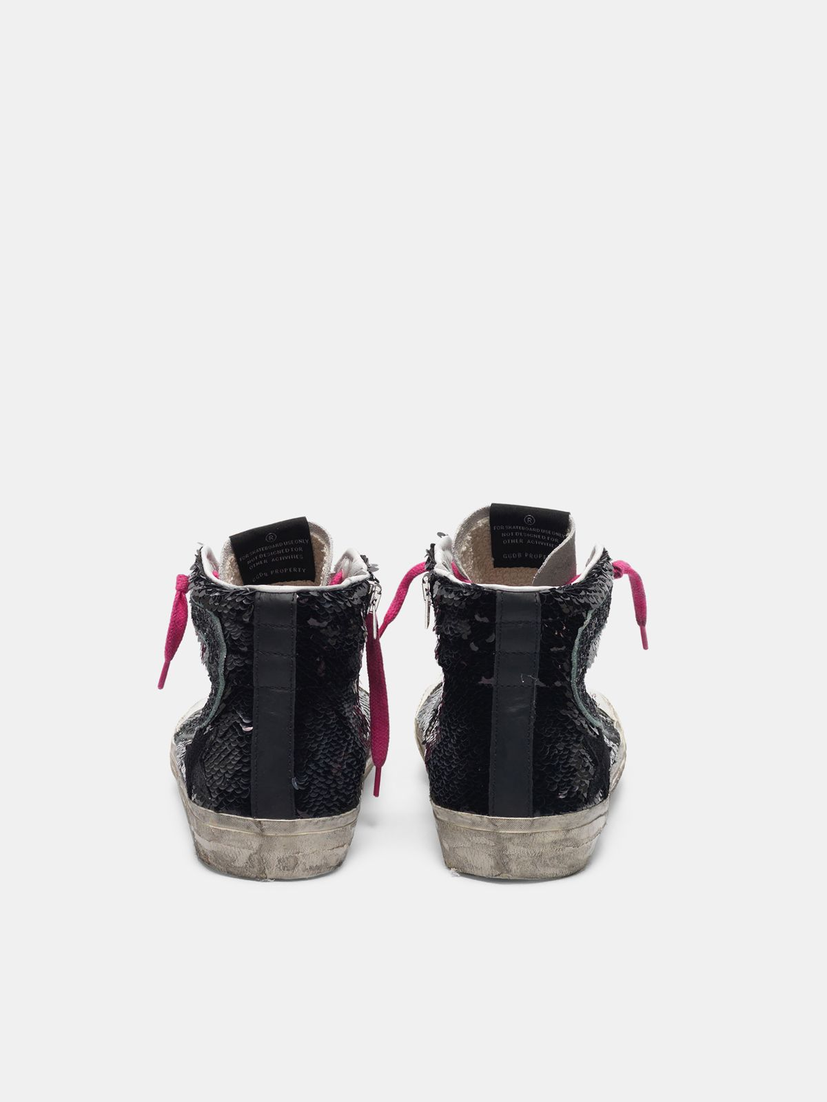 Golden Goose - Zapatillas deportivas con lentejuelas negras in