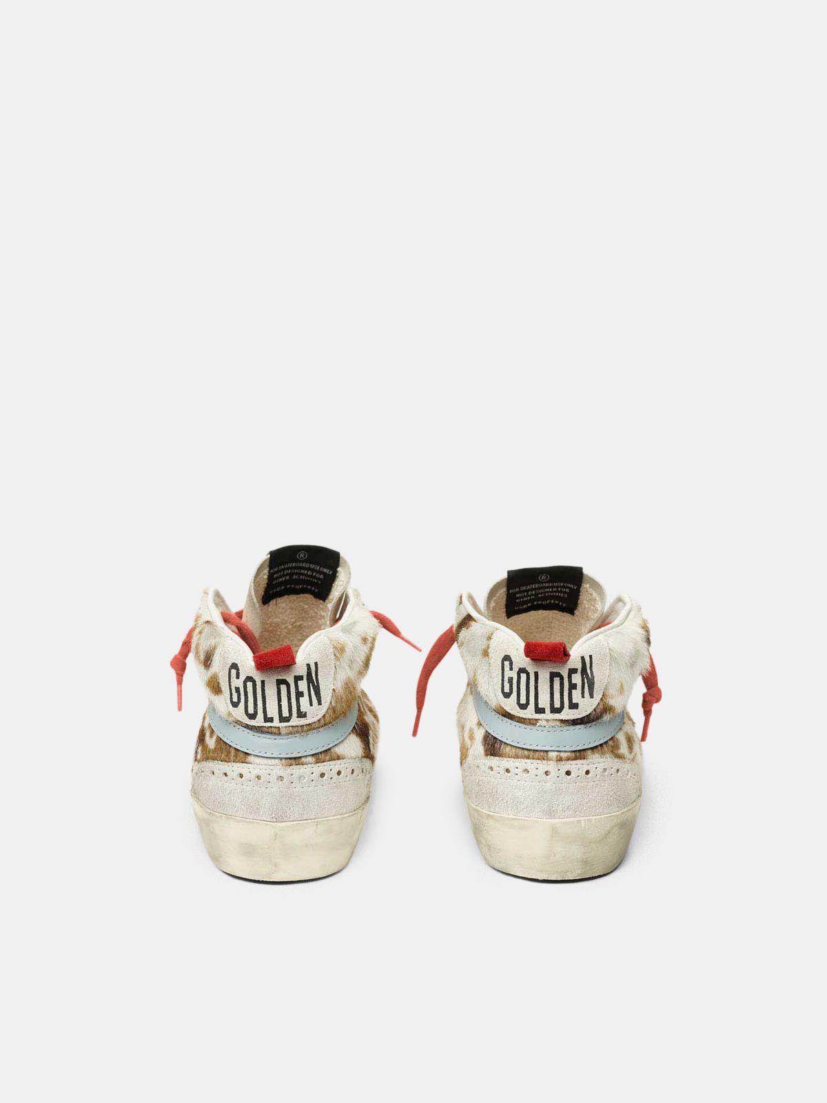 Golden Goose - Mid Star sneakers in cow-print pony skin in