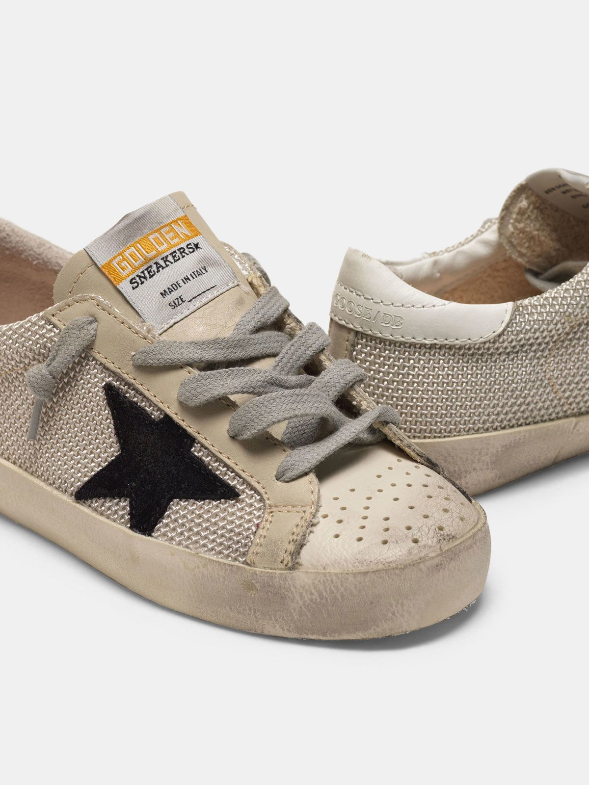 Golden Goose - Super-Star sneakers in hi-tech fabric with nubuck star in
