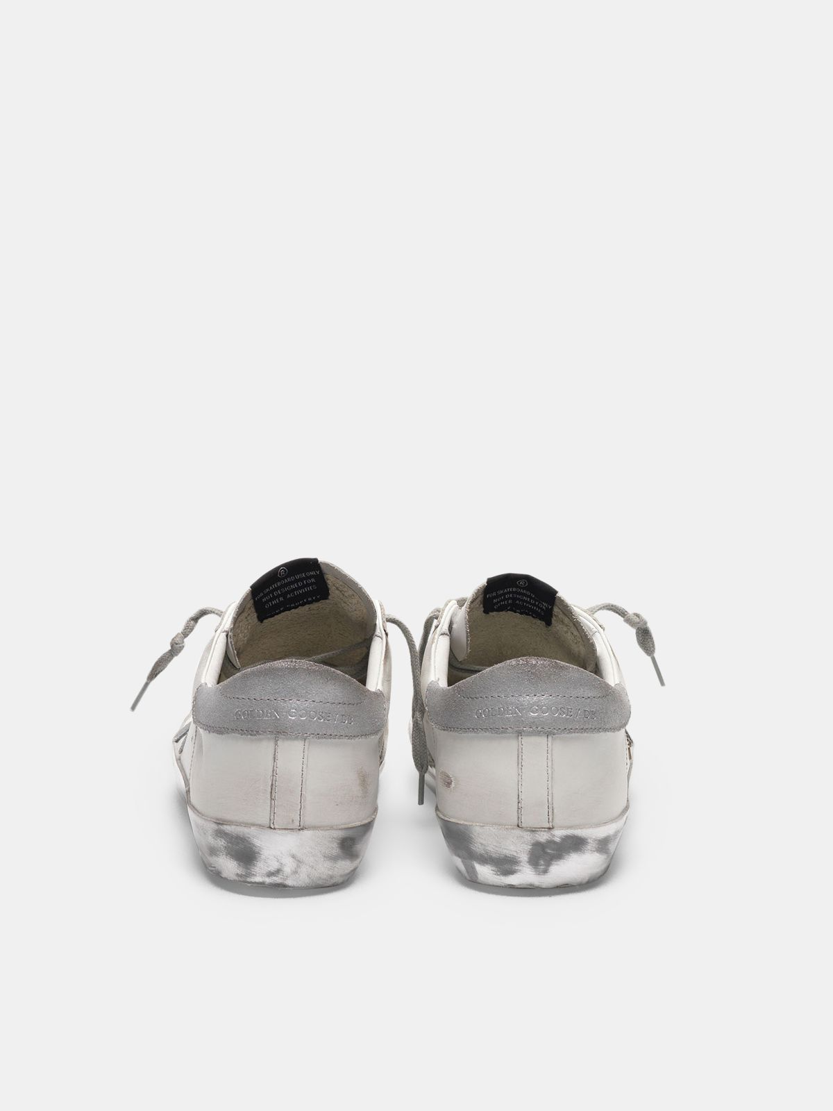 Golden Goose - Super-Star sneakers with star and glitter heel tab in