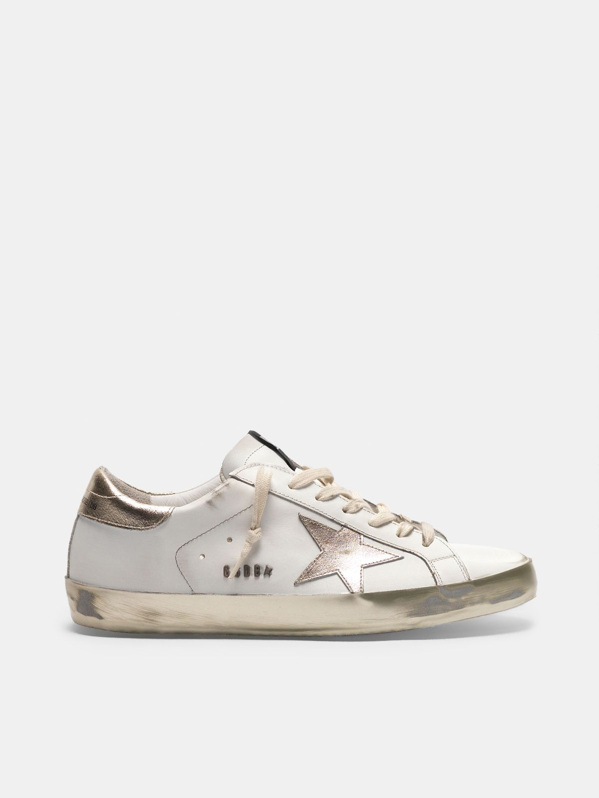 Golden Goose - Super-Star sneakers with details and gold foxing in