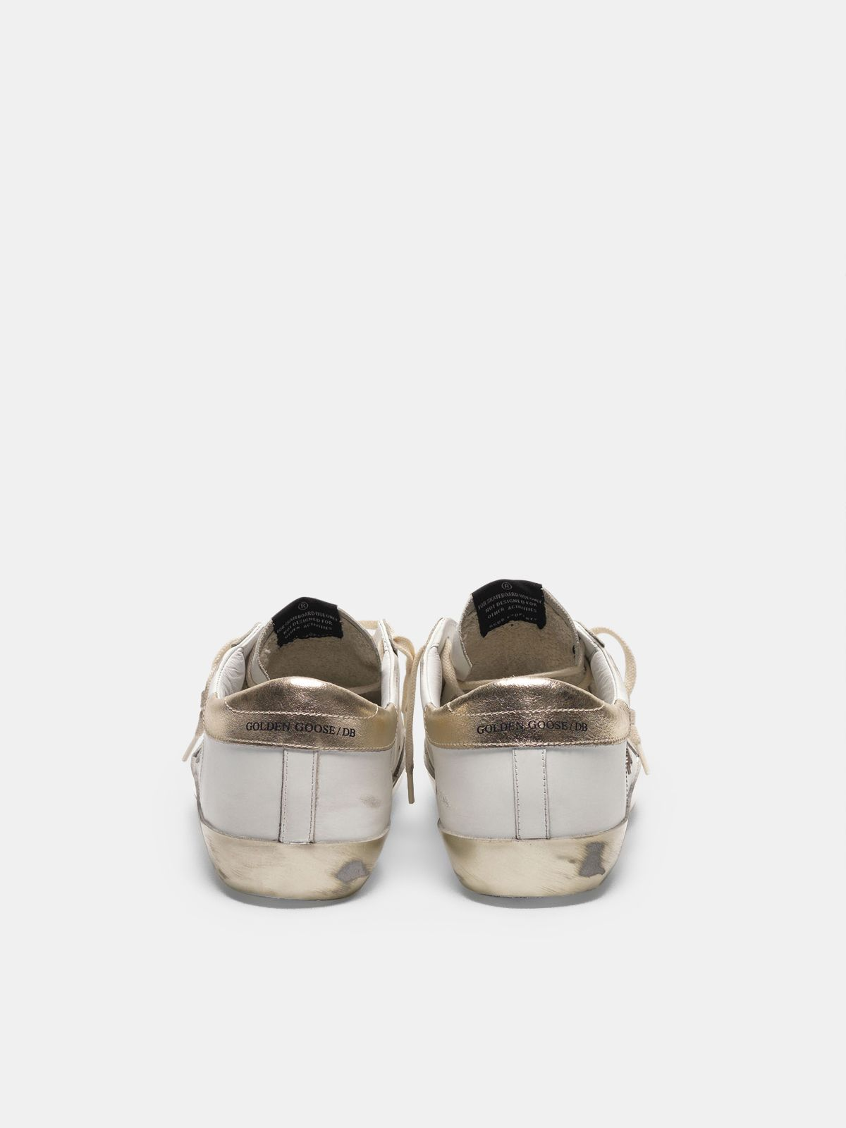 Golden Goose - Sneakers Super-Star con dettagli e foxing dorato in