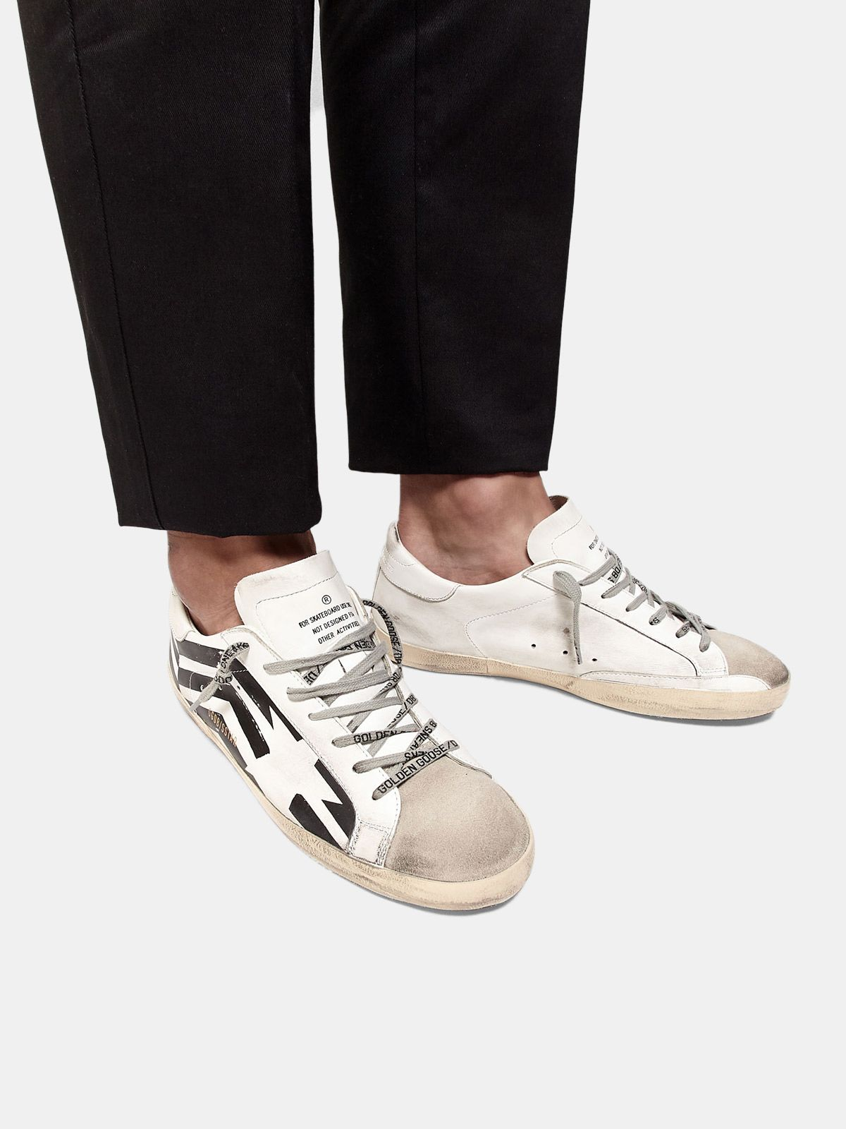 Golden Goose - Sneakers Super-Star con stampa flag GGDB in