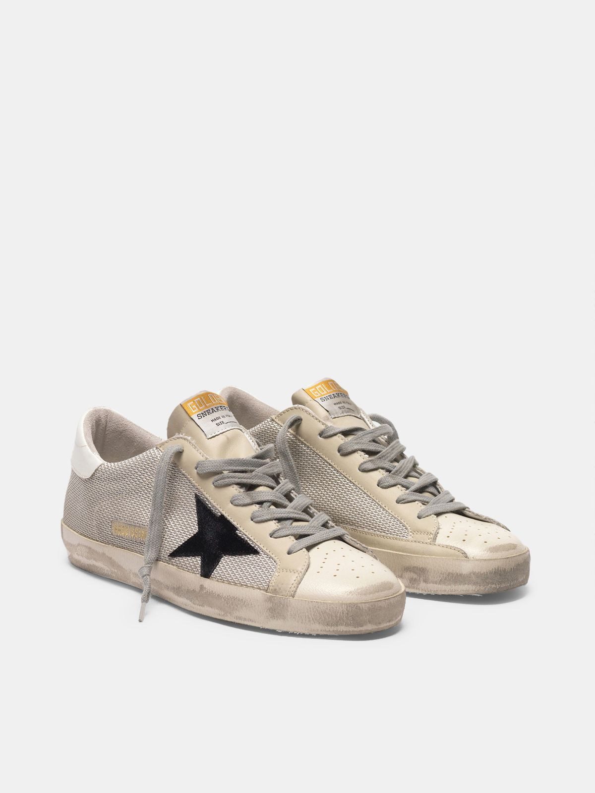 Golden Goose - Super-Star sneakers in leather with mesh insert in