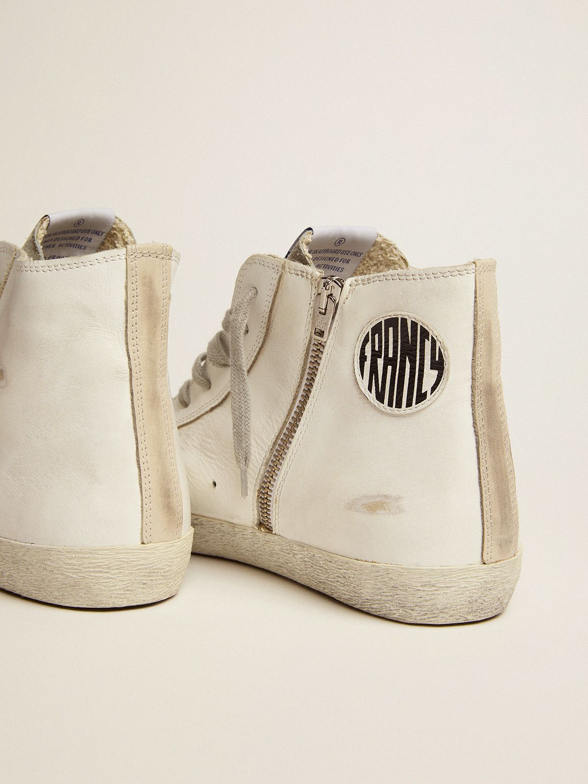 Golden Goose - Francy sneakers in leather with silver suede star in