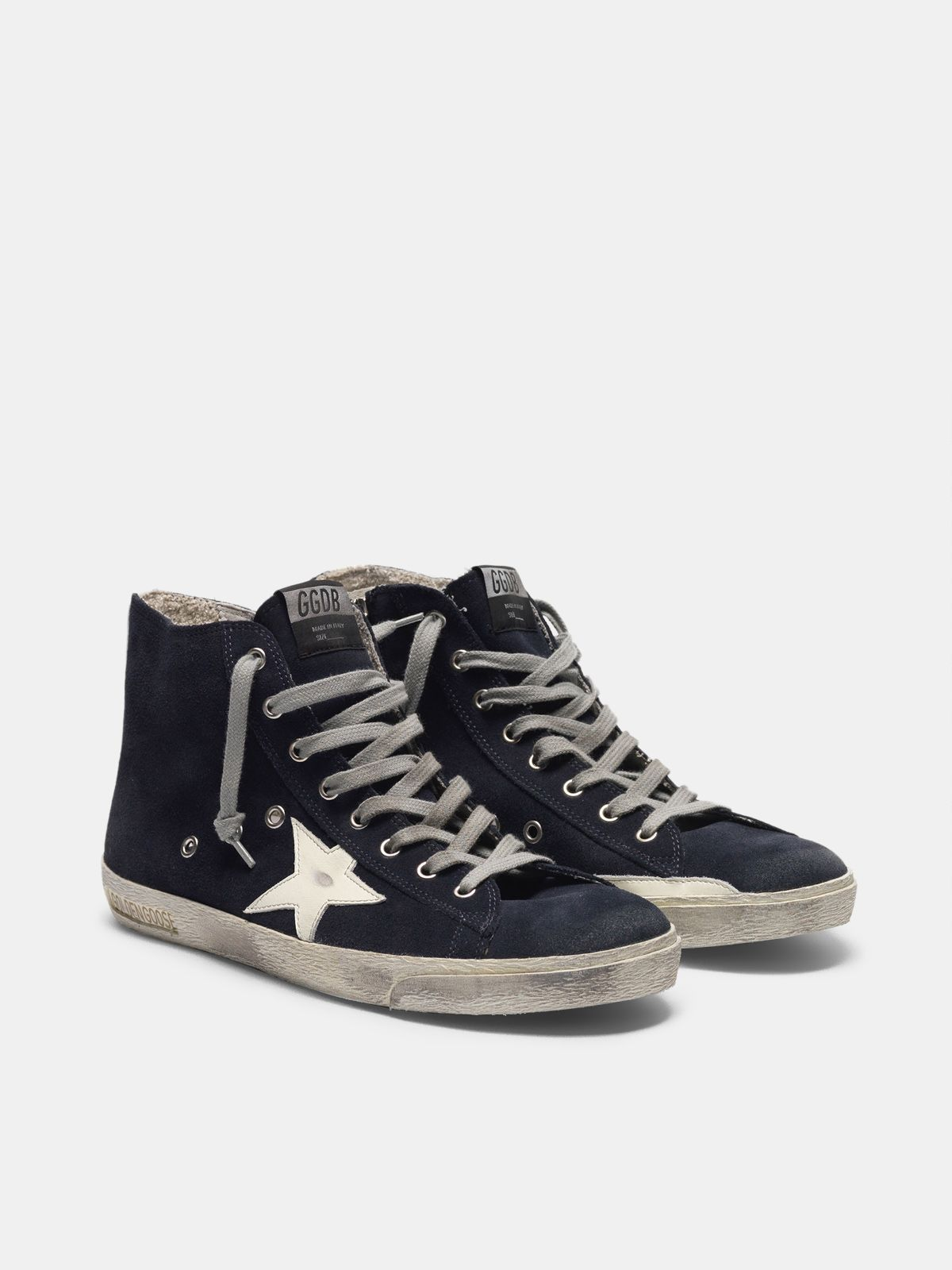 Golden Goose - Francy sneakers in leather with leather star and heel tab in