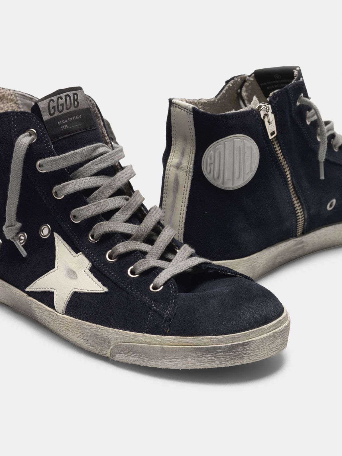 Golden Goose - Sneakers Francy in pelle con stella e talloncino in pelle in