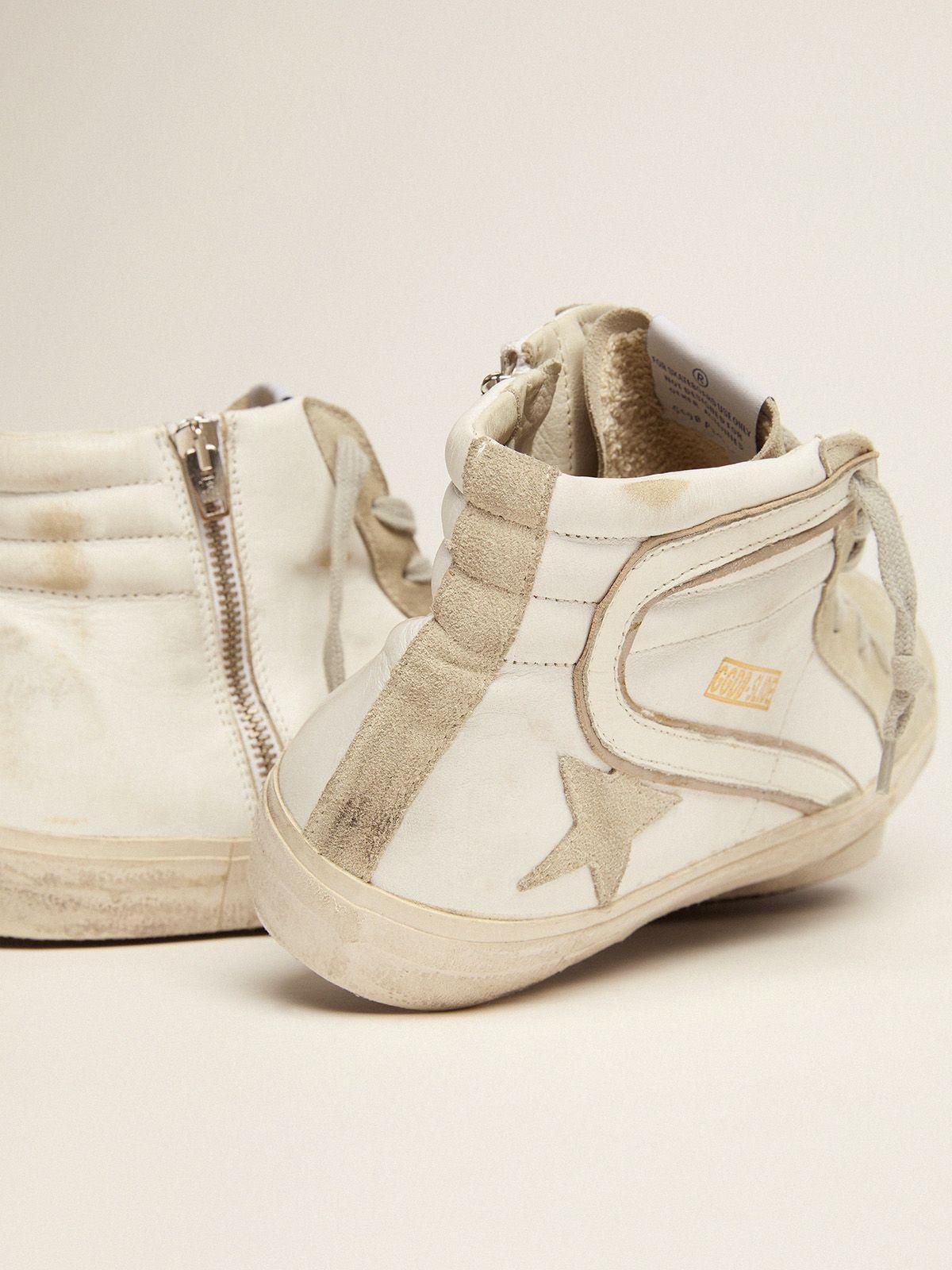 Golden Goose - Sneakers Slide in pelle con stella e dettagli in camoscio in
