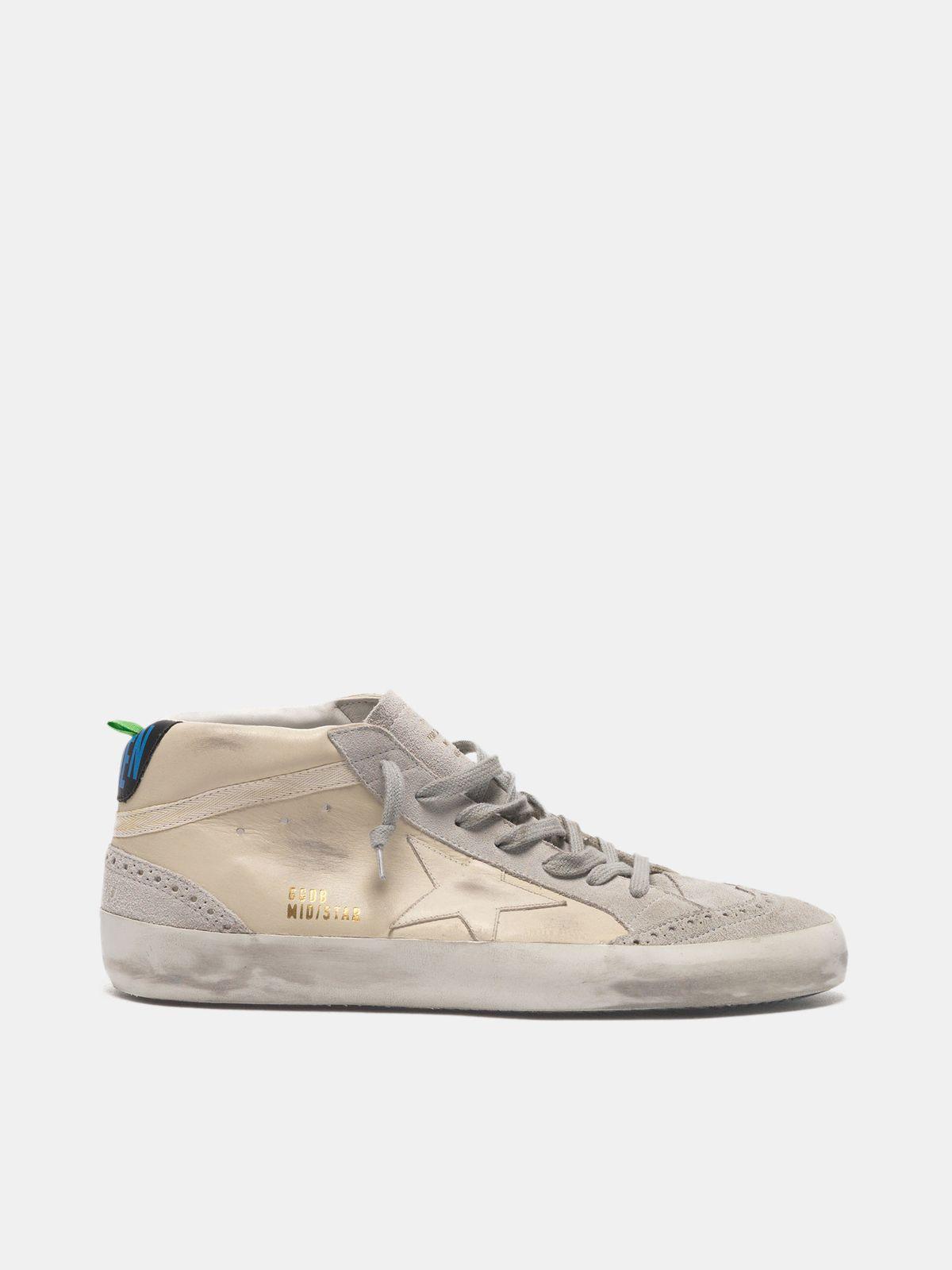 Golden Goose - Zapatillas deportivas Mid-Star de piel con detalles de ante in