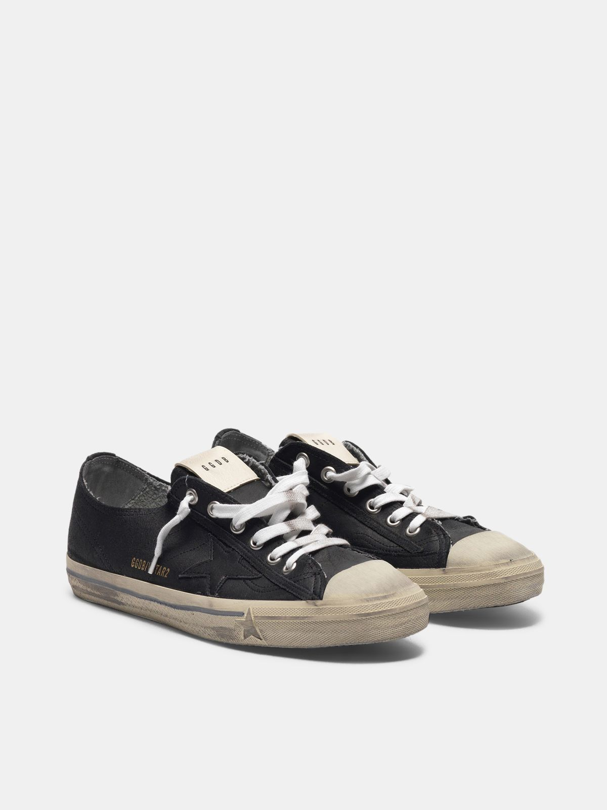 Golden Goose - V-Star sneakers in leather with tonal star in