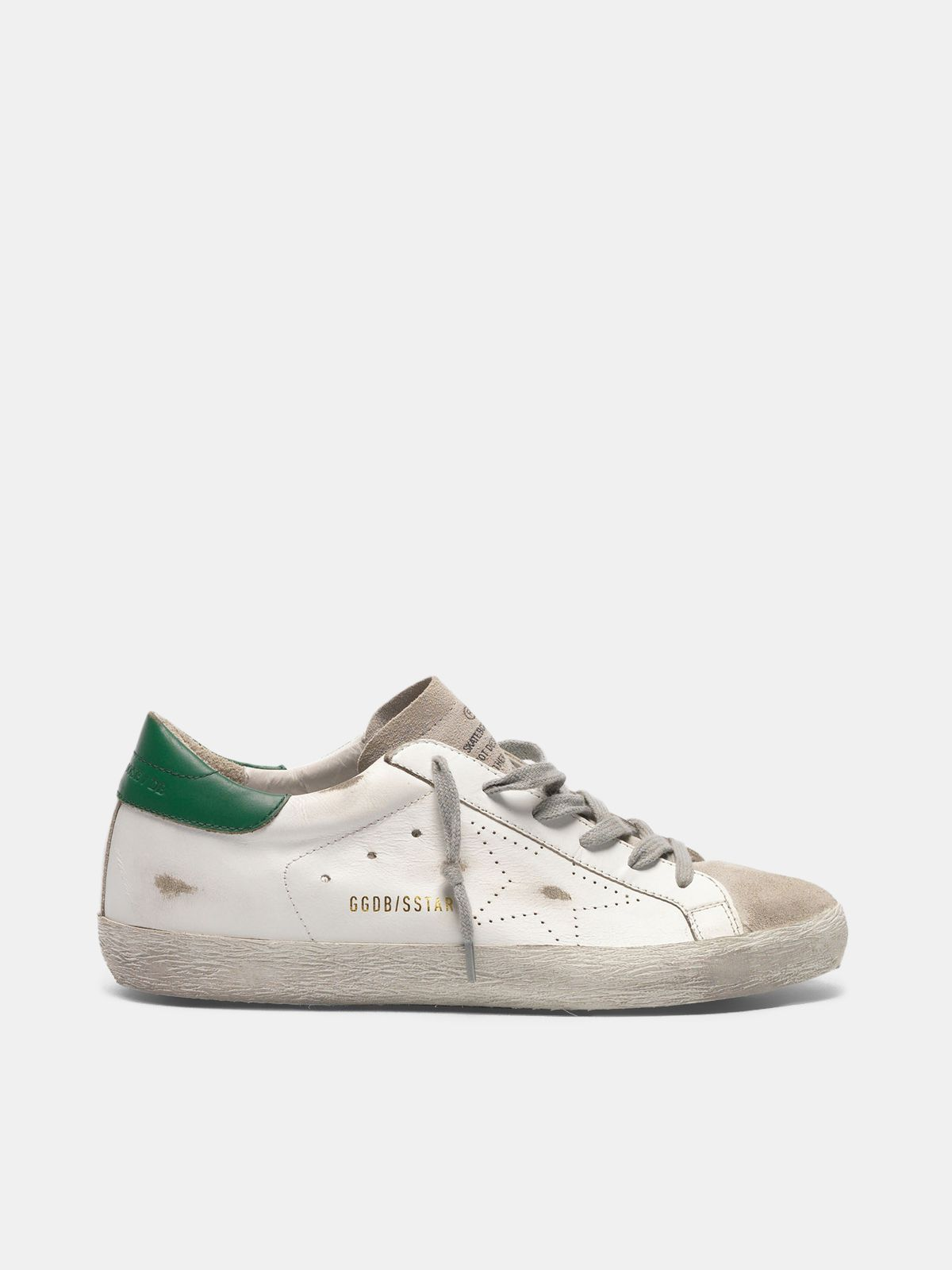 Golden Goose - Super-Star sneakers in leather and suede with openwork star in