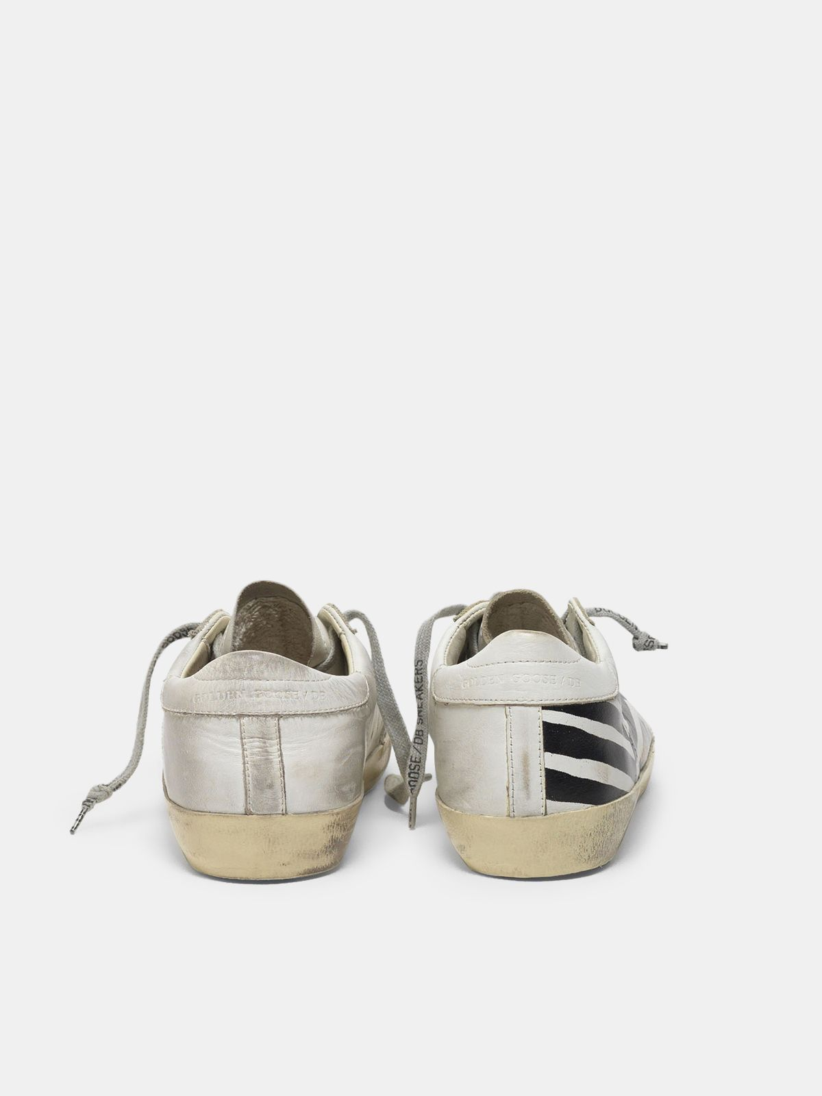 Golden Goose - Super-Star sneakers in leather with flag print in