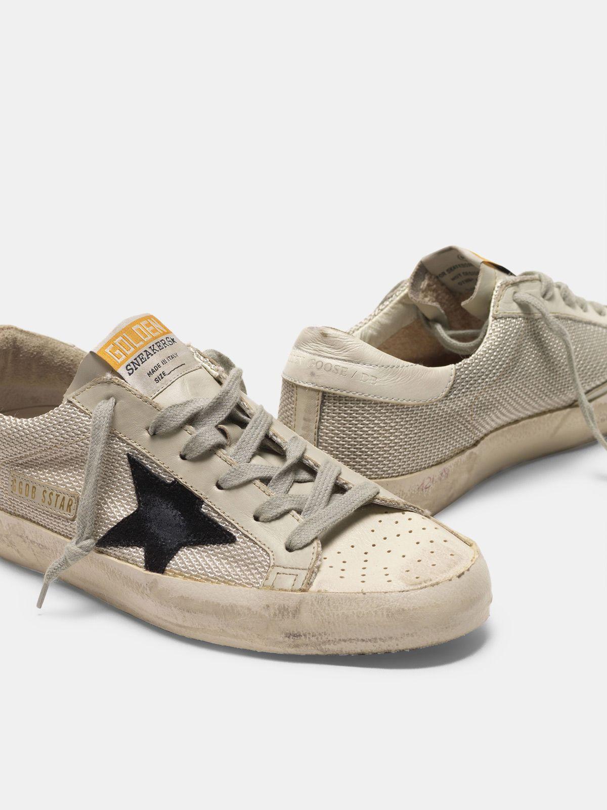 Golden Goose - Sneakers Super-Star in pelle con inserto in mesh in
