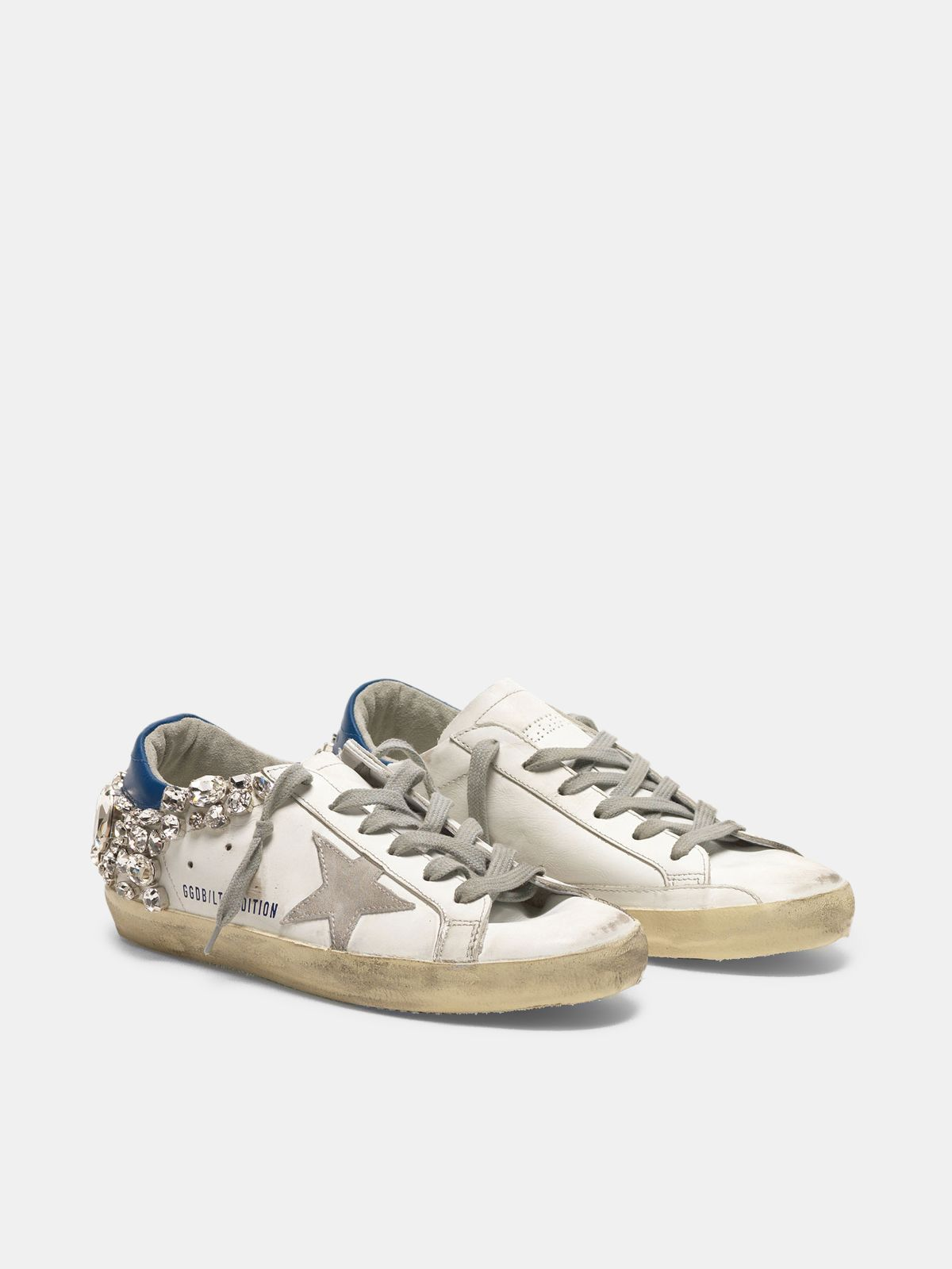 Golden Goose - Super-Star sneakers with stones appliqués in