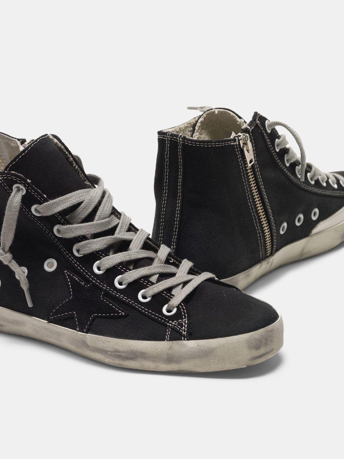 Golden Goose - Sneakers Francy con stella GGDB impunturata a contrasto in