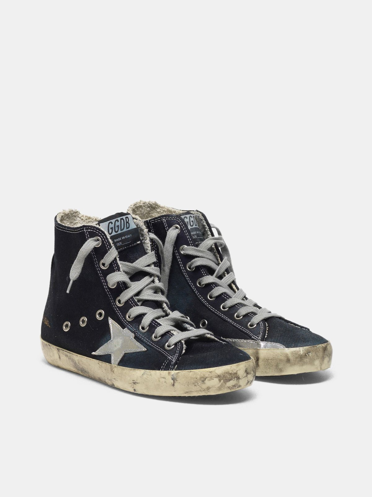 Golden Goose - Sneakers Francy in canvas con stella laminata in
