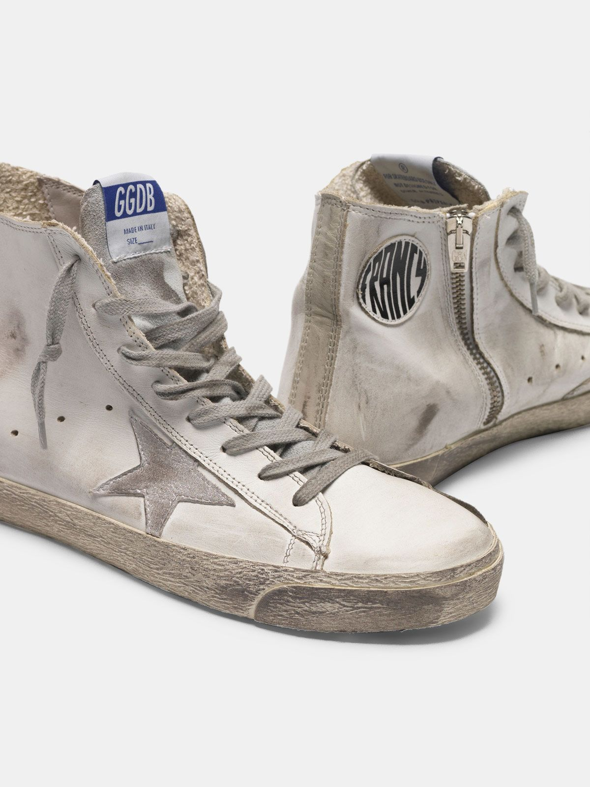 Golden Goose - Francy sneakers in leather with suede star in