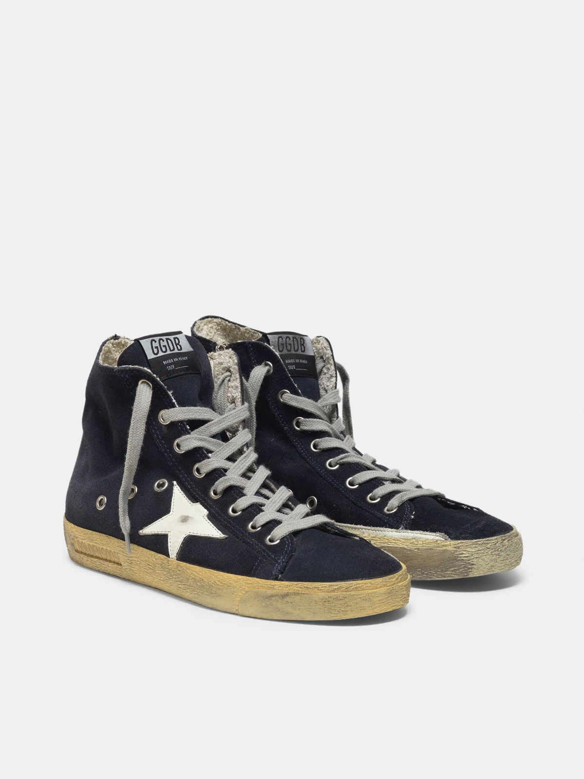 Golden Goose - Francy sneakers in suede with leather star in