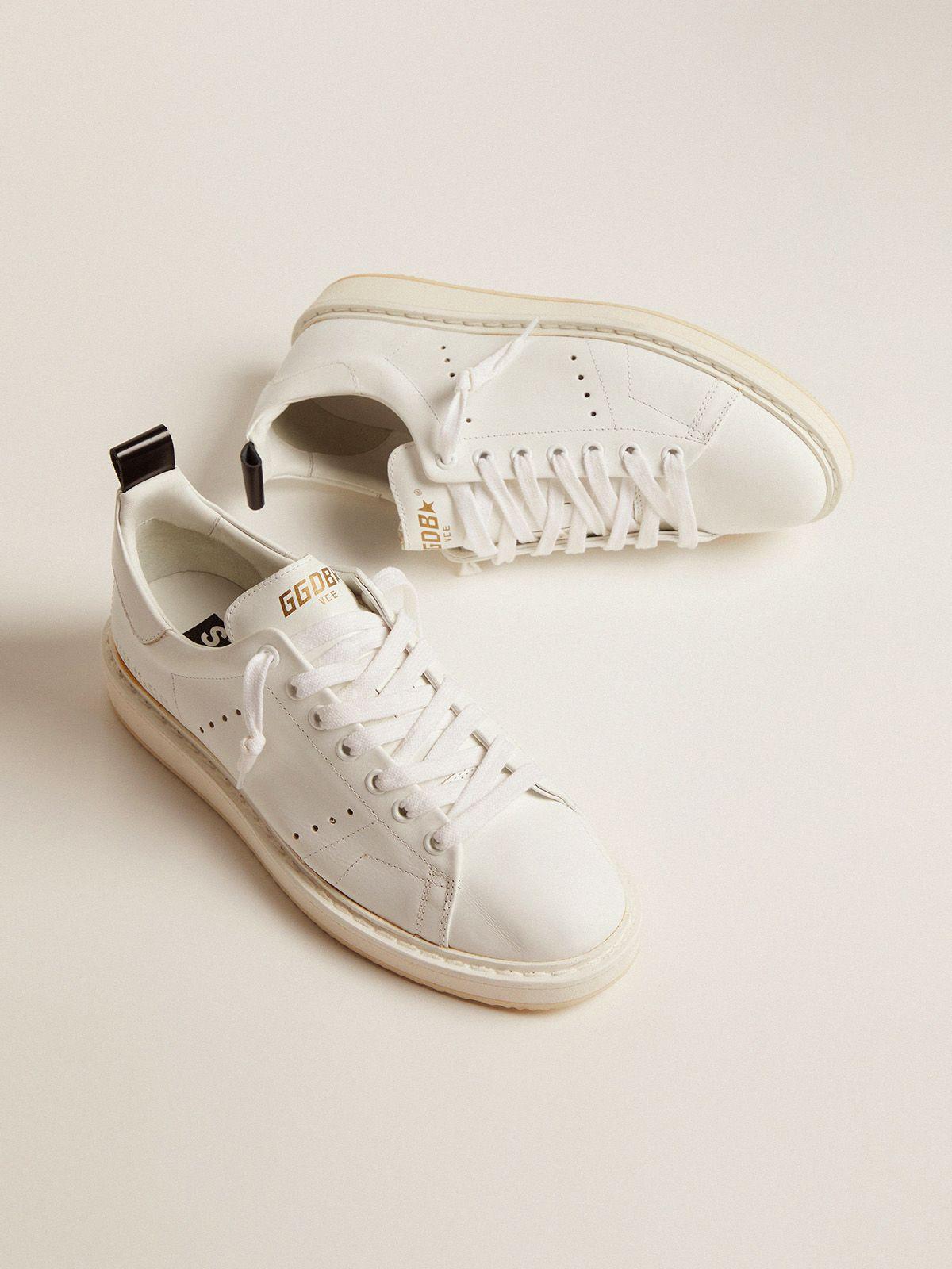 Golden Goose - Sneakers Starter in pelle total white in