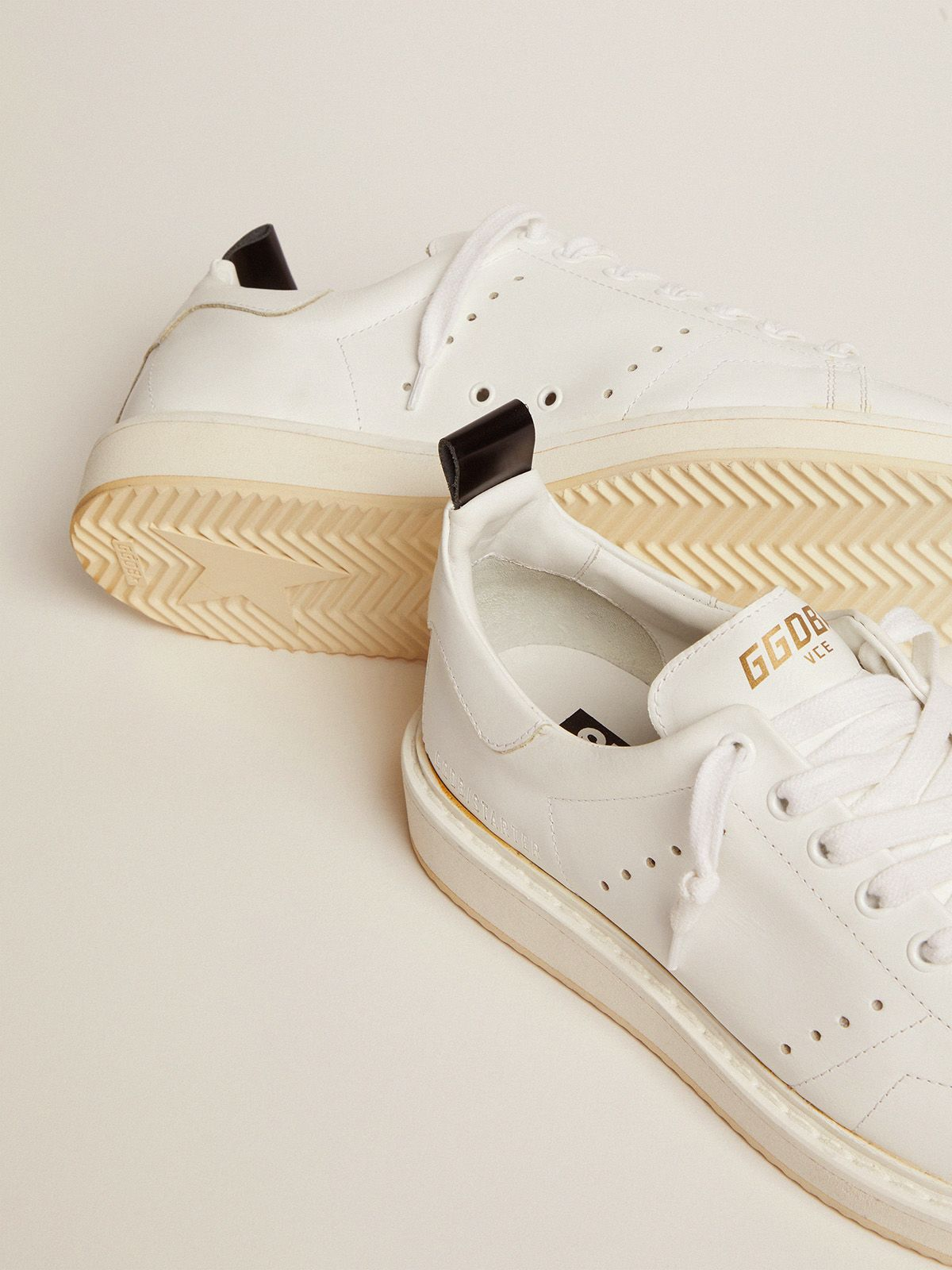 Golden Goose - Starter sneakers in total white leather in