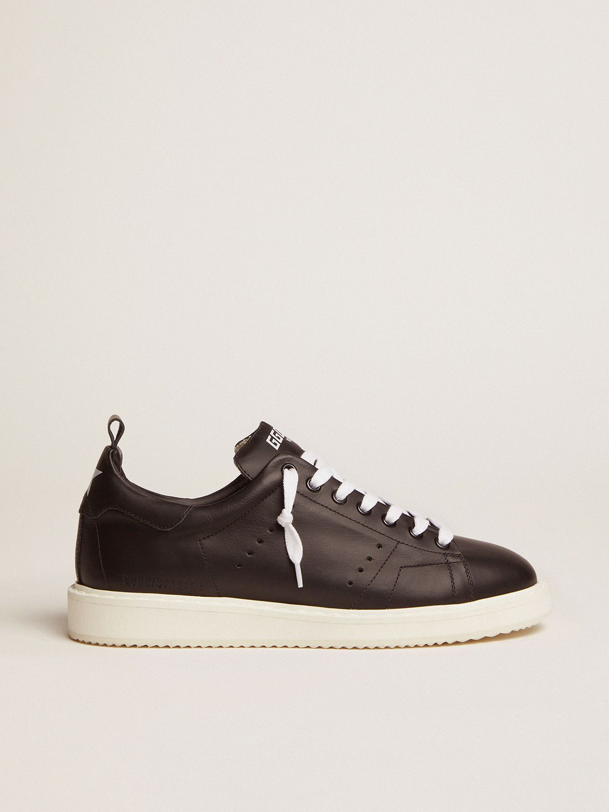 Golden Goose - Sneakers Starter in pelle total black in