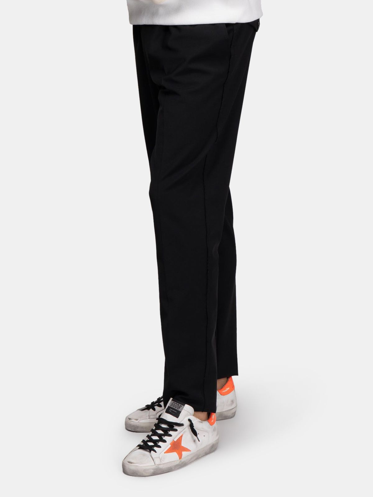Golden Goose - Black Luke joggers in wool in