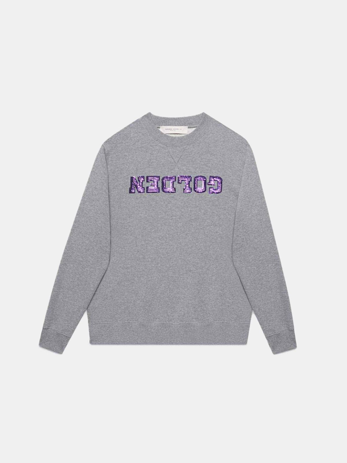 Grey Golden sweatshirt with sequinned logo