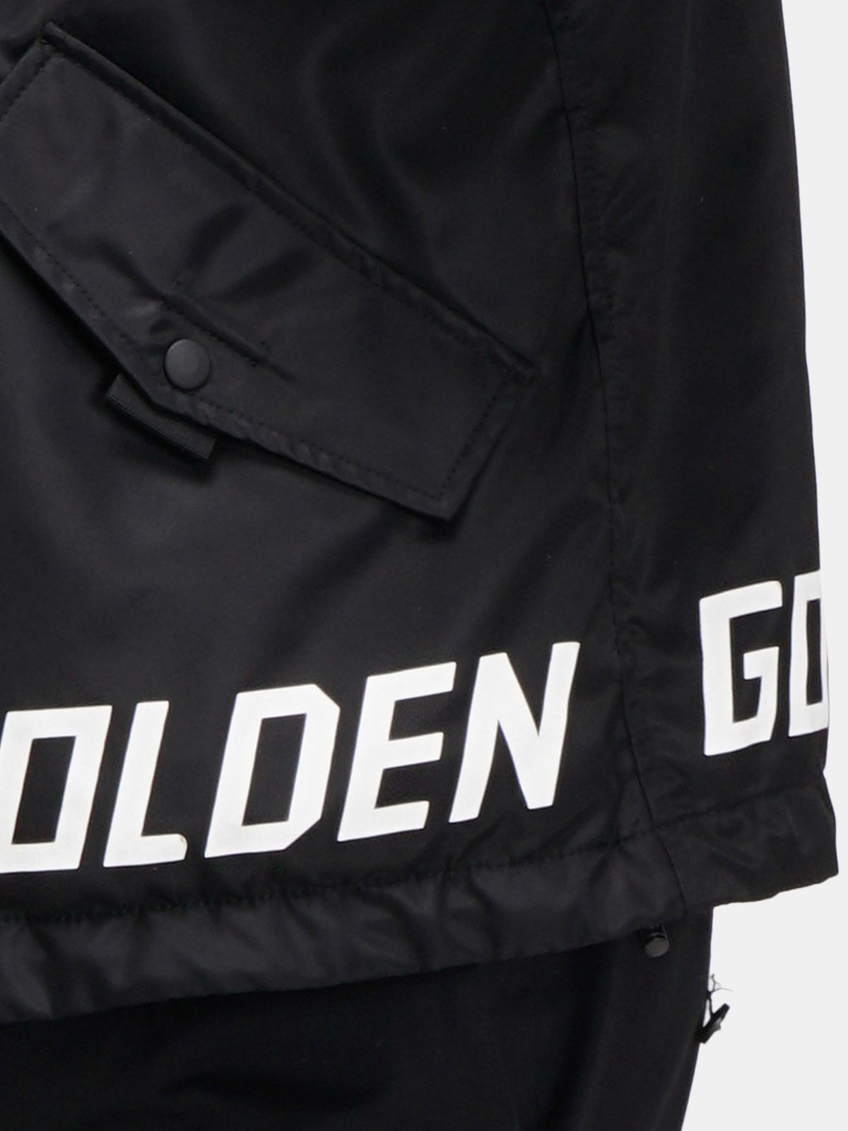 Golden Goose - Black Jacob windcheater with logo   in